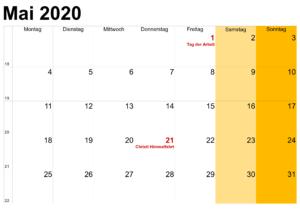 Mai 2020 Für Studenten/Kinder