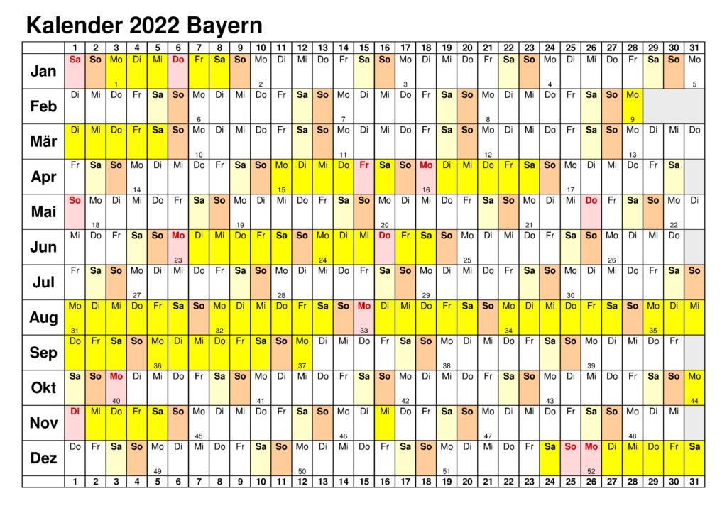 2022 Sommerferien Bremen Kalender PDF