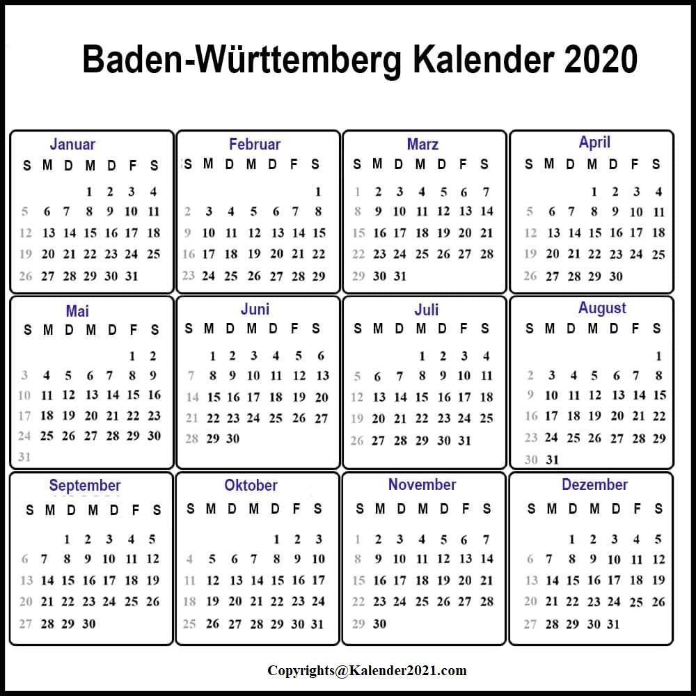 Brandenburg 2020 Kalender Zum Ausdrucken
