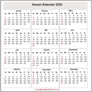 2020 Sommerferien Hessen Exce