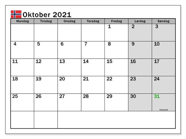 Kalender 2021 Oktober Zum Ausdrucken