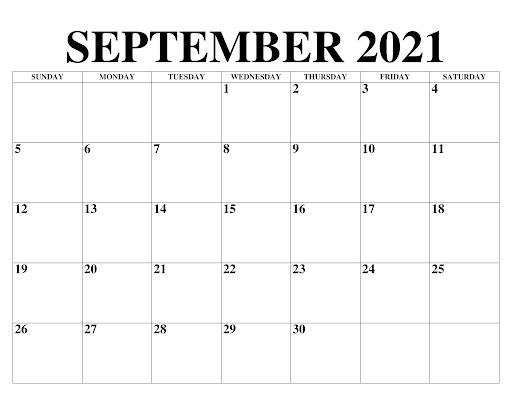 September 2021 Kalender