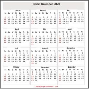 Sommerferien 2020 Berlin PDF