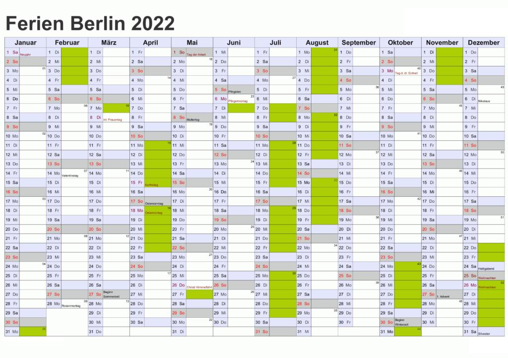 Sommerferien 2022 Berlin PDF