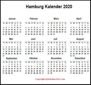 Sommerferien Hamburg 2020 Excel Word