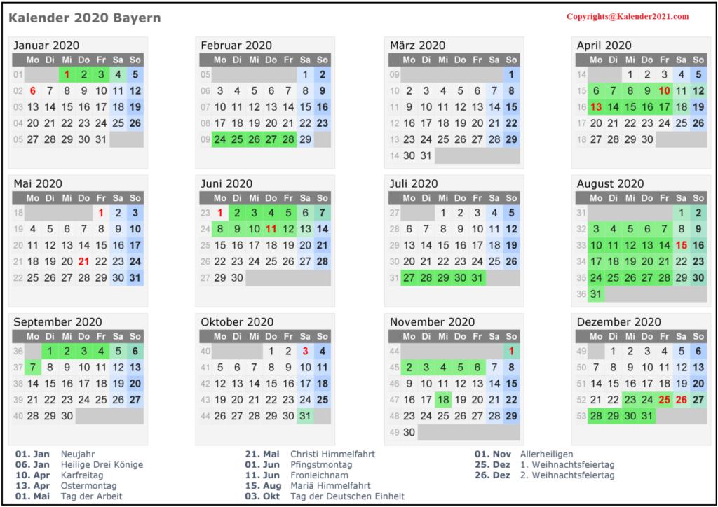 Wann Sind Die Sommerferien Bayern 2020