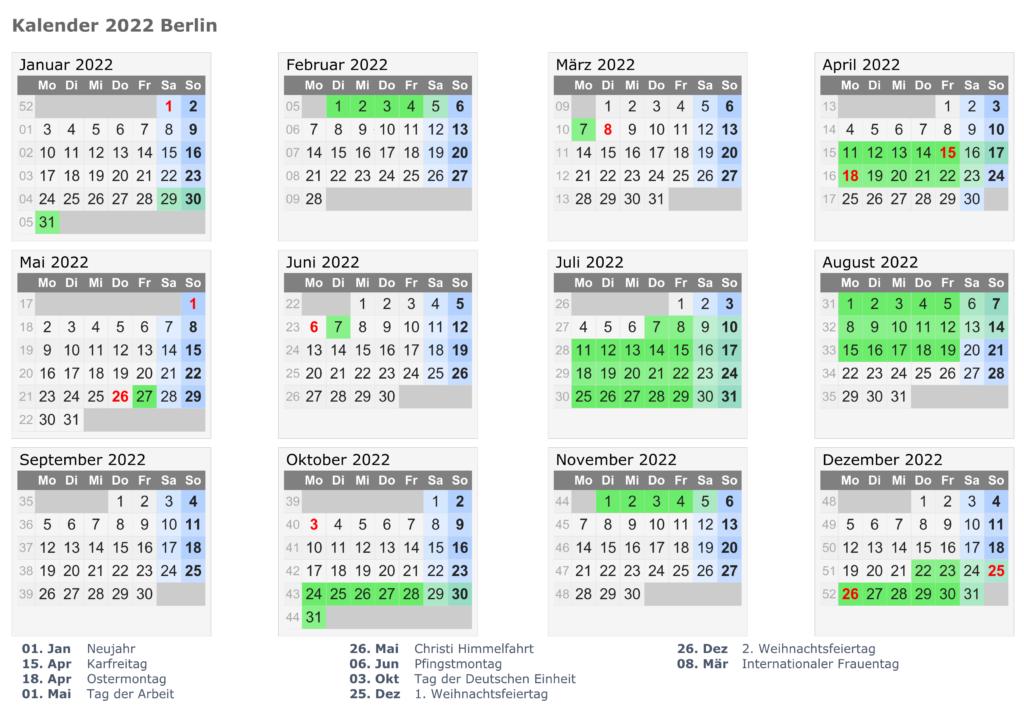 Wann Sind Die Sommerferien Berlin 2022?