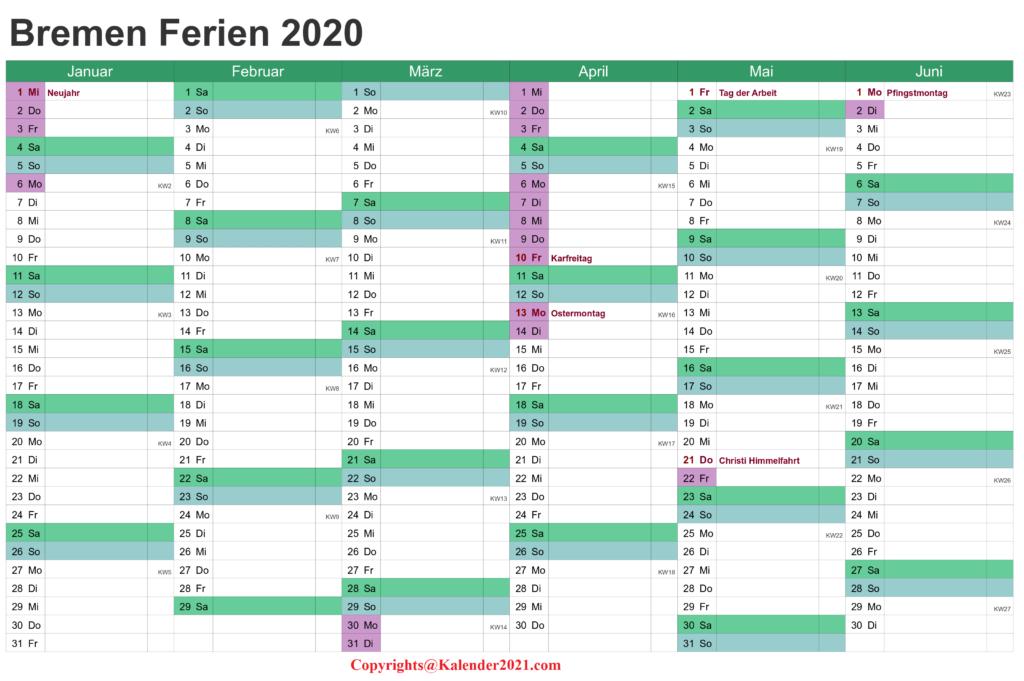 Wann Sind Die Sommerferien Bremen 2020
