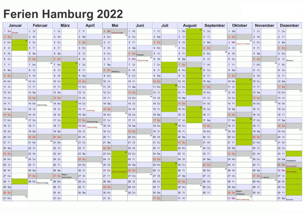Wann Sind Die Sommerferien Hamburg 2022