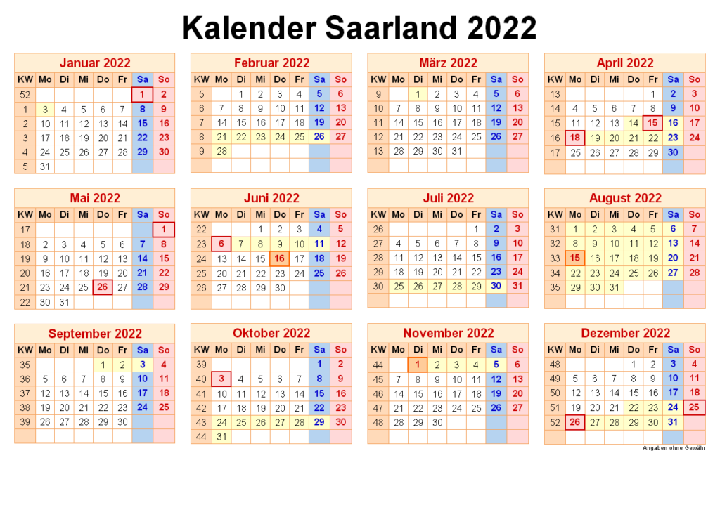 Wann Sind Die Sommerferien Saarland 2022