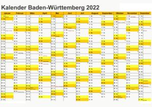 Baden-Württemberg 2022 Kalender Zum Ausdrucken