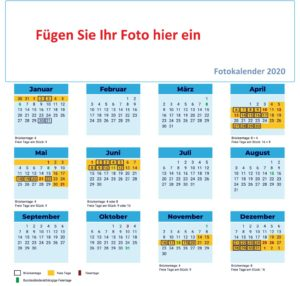 Fotokalender 2020 Selbst Gestalten
