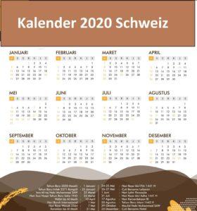 Jahreskalender 2020 Schweiz Kaufen