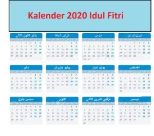 2020 Idul Fitri Bulan Apa Kalender