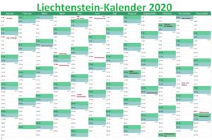 LiechtensteinKalender 2020 PDF