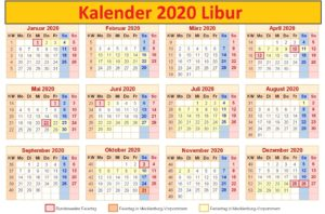 Kalender 2020 Urlaub PDF