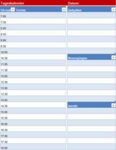 2020 Tageskalender ZumAusdrucken