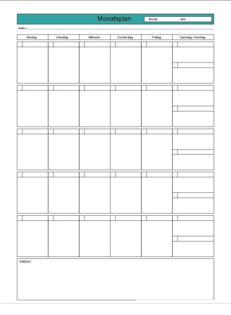 Wochenkalender 2022 PDF
