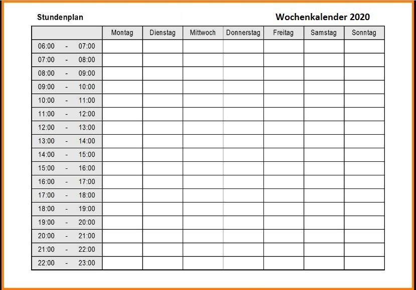 Wochenkalender 2022 Selbst Gestalten