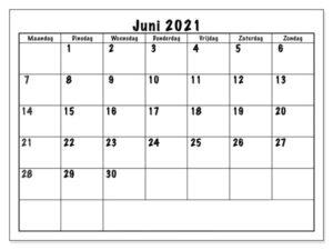 Juni 2021 Kalender