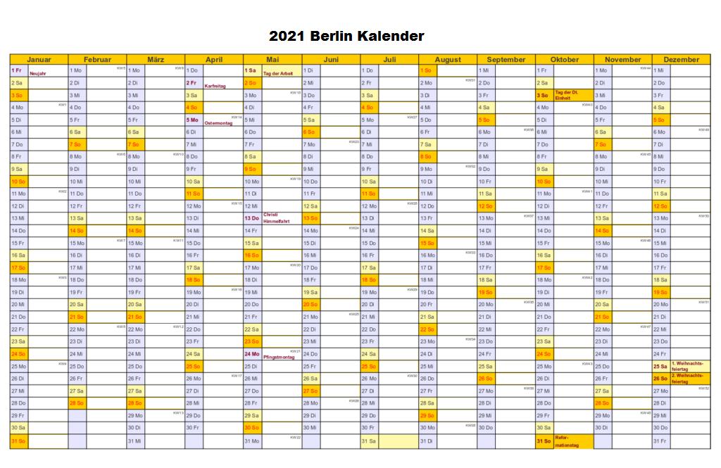 Berlin Sommerferien 2021