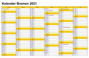 Bremen 2021 Kalender Zum Ausdrucken