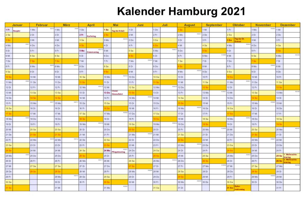 Kalender 2021 Hamburg Zum Ausdrucken