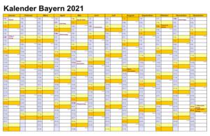Bayern 2021 Kalender Zum Ausdrucken