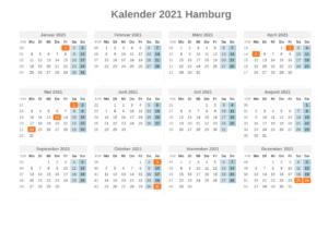Feiertagen Hamburg 2021 Kalender