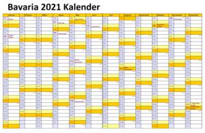 Bavaria 2021 Kalender Zum Ausdrucken