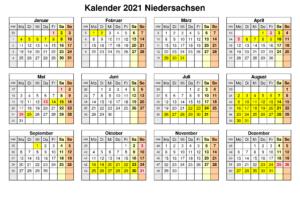 Niedersachsen 2021 Kalender Zum Ausdrucken