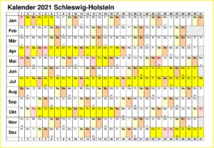 Schleswig-Holstein 2021 Kalender Zum Ausdrucken