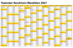 Kalender NRW 2021 Zum Ausdrucken