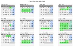 Sachsen 2021 Kalender Zum Ausdrucken