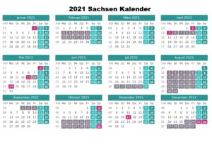 Sommerferien Sachsen 2021 Excel Word