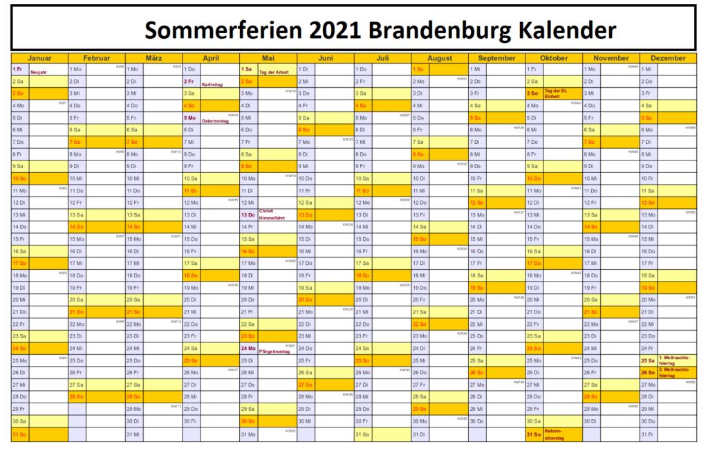 Brandenburg 2021 Kalender Zum Ausdrucken