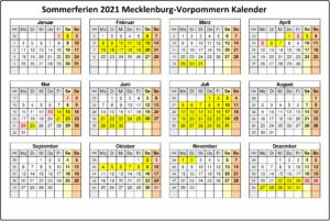 Feiertagen 2021 Mecklenburg-Vorpommern Kalender