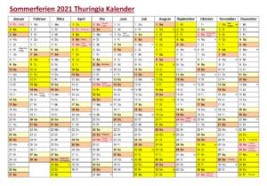 Thuringia 2021 Kalender Zum Ausdrucken